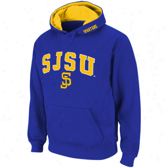 San Jose State Spartans Royal Blue Classic Twill Ii Pullover Hoodie Sweatshirt