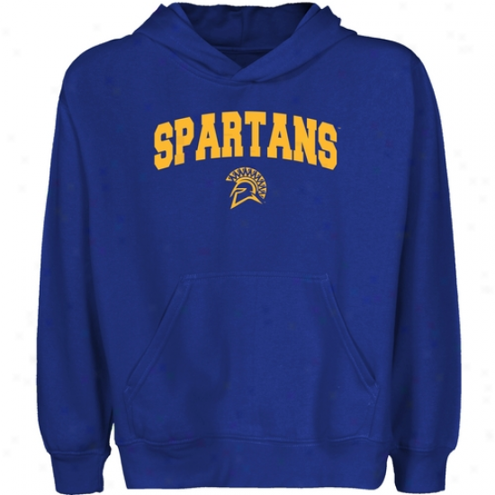 San Jose State Spartans Youth Royal Blue Logo Arch Pullover Hoody