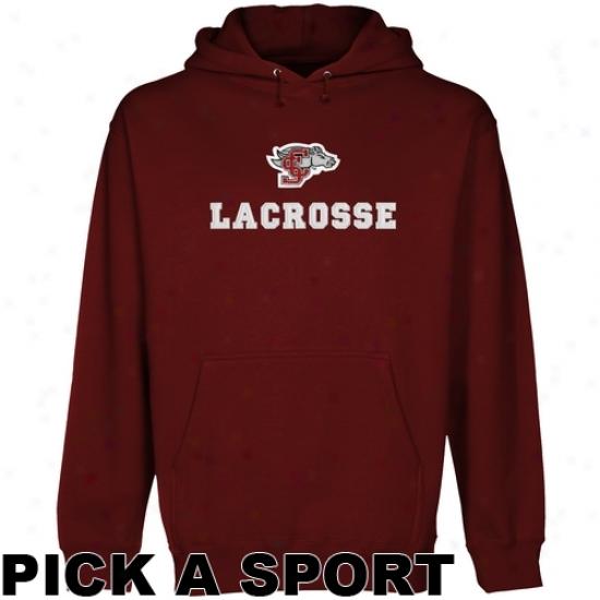 Santa Clara Broncos Cuqtom Sport Logo Applique Pullover Hoodie - Red