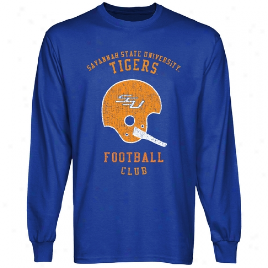 Savannah State Tigers Club Long Sleeve T-shirt - Royal Blue