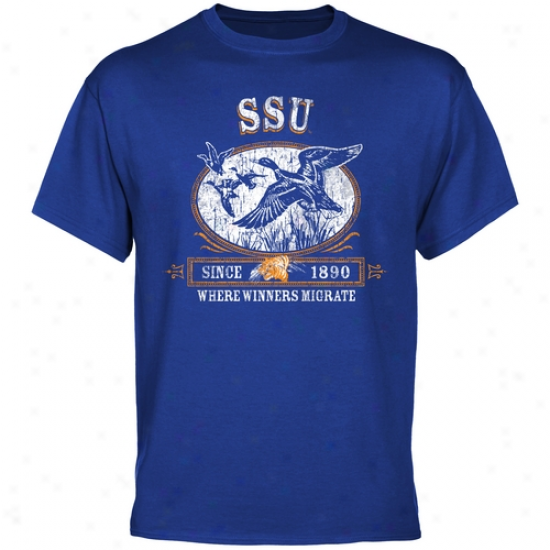Savannah State Tigers Winners Migrate T-shirt - Royal Blue
