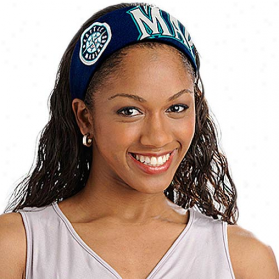 Seattle Mariners Ladies Navy Blue Fanband Jersey Headband