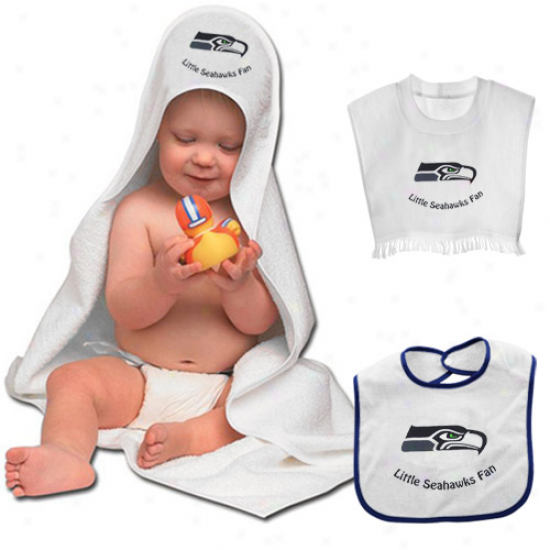 Seattle Seahawks Hooded Towel & Bib Set