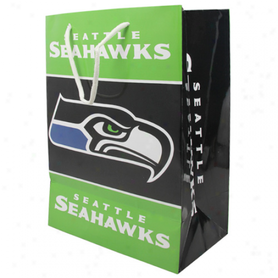 Seattle Seahawks Medium Gift Bag