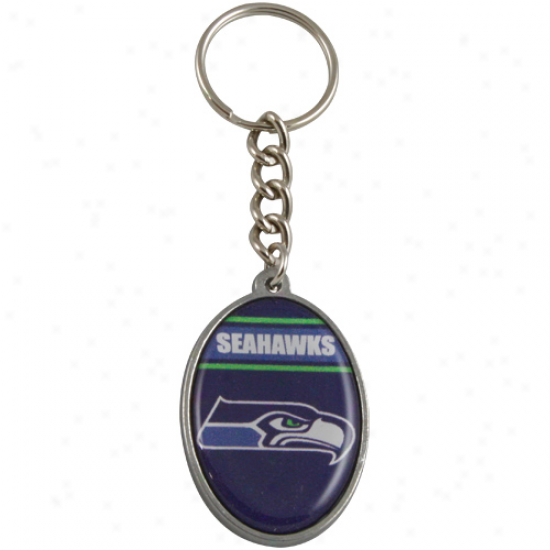 Seattle Seahawks Oval Keychain
