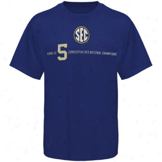 Sec Five Consecutive Champs T-shirt - Kingly Azure