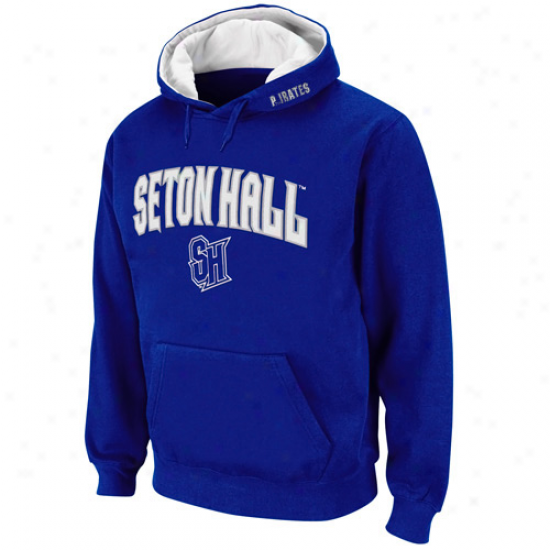 Seton Hall Pirates Royal Blue Classic Twill Ii Pullover Hoodie Sweatshirt