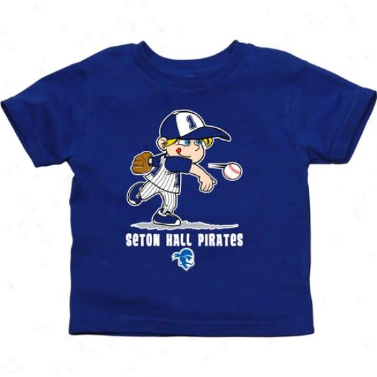 Seton Hall Pirates Toddler Boys Baseball T-shirt - Royal Blue