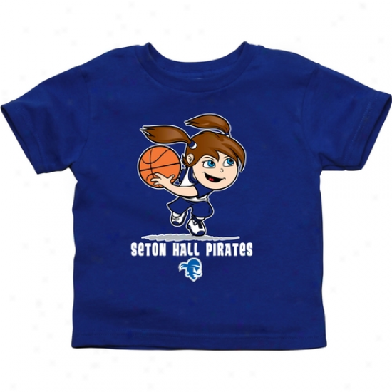 Seton Hall Pirates Toddler Girls Basketball T-shirt - Royl Blue