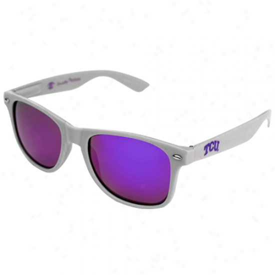 Shadowy Peeps Texas Christian Horned Frogs (tcu) Gray Signatude Series Reflective Sunglasses