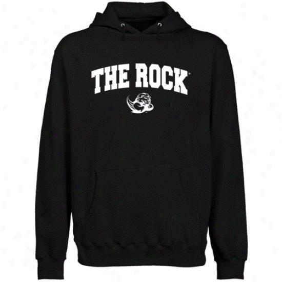 Slippery Rock Pride Black Logo Arch Lightweight Pullover Hoody