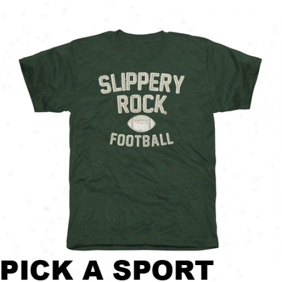 Slippery Rock Pride Lwgacy Tri-blend T-shirt - Green