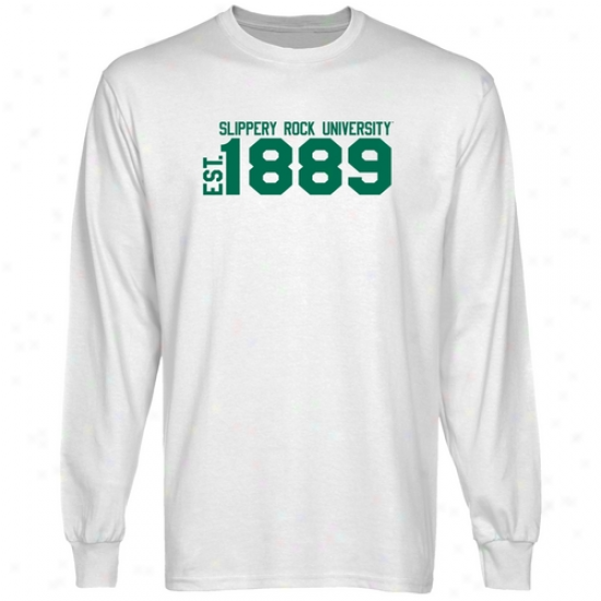 Slippery Rock Pride White Est. Date Long Sleeve T-shirt