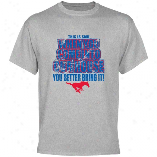 Smu Mustangs Ash Bring It T-shirt