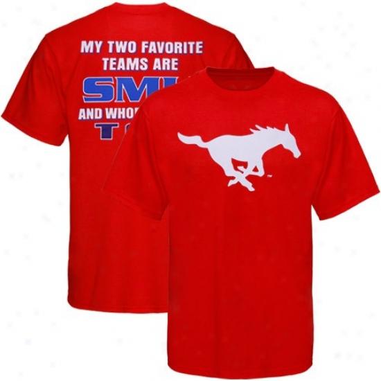 Smu Mustangs Crimson Favorite T-sshirt