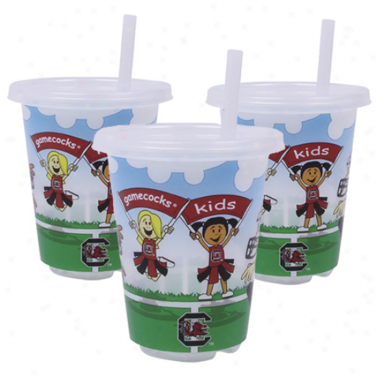 South Carolina Gamecocks 3-pack 10oz. Sip N' Go Plastic Cups