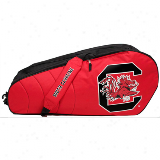 South Carolina Gamecocks Garnet 6-racquet Tennis Bag