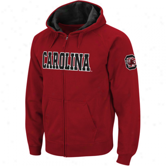 South Carolina Gamecocks Garnet Classic Twill Ii Full Zip Hoodie Sweatshirt
