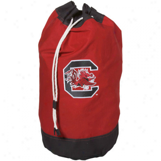 South Carolina Gamecocks Garnet Launfry Bag