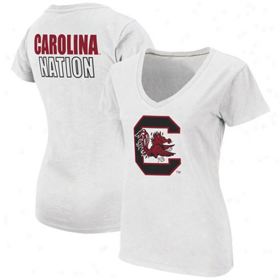 South Carolina Gamecocks Ladies Carolina Nation T-shirt - White