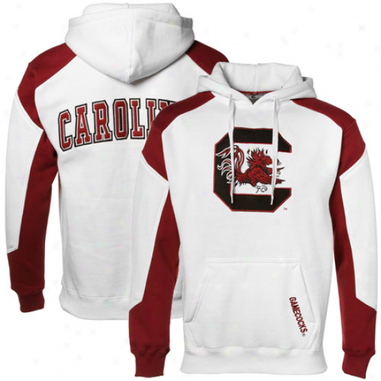 South Carolina Gamecocks White-garnet Challenger Hoody Sweatshirt