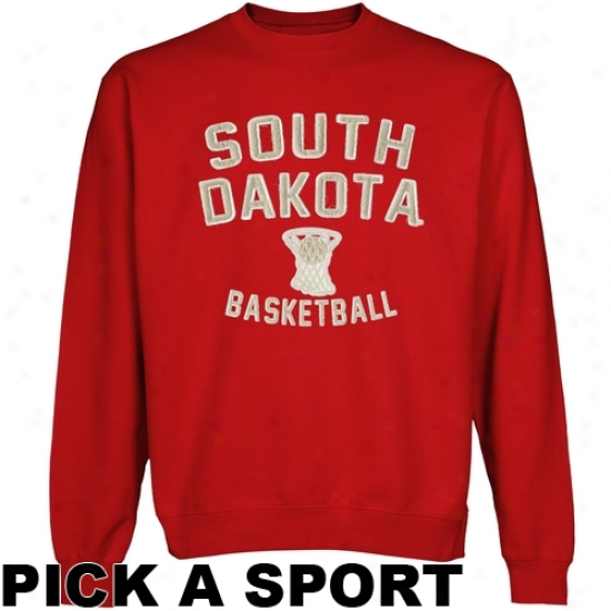 South Dakota Coyotes Legacy Crew Neck Fleece Sweatshirt - Vermillion