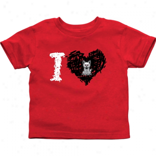 South Dakota Coyotes Toddler Iheart T-shirt - Red
