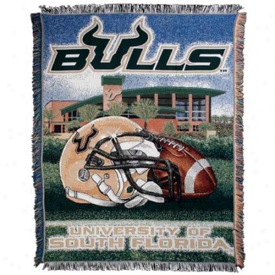 South Florida Bulls Acrylic Tapestry Home Field Advantage Trhow Blanket