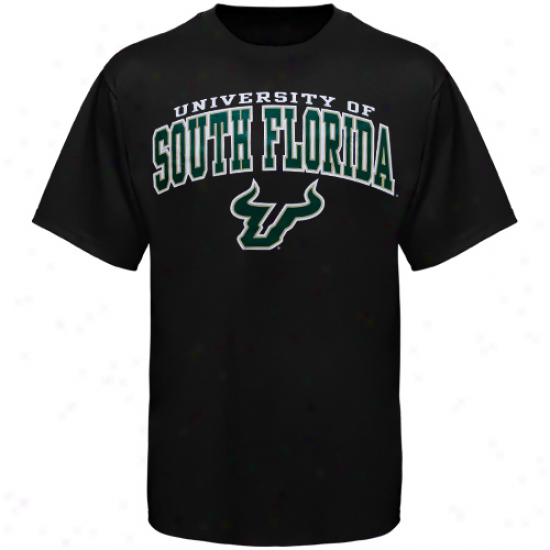 South Florida Bulls Arcched University T-shirt - Black