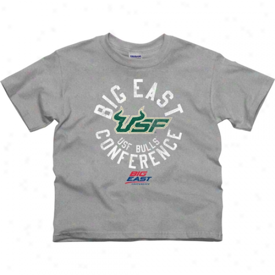 South Florida Bulls Youth Conference Stamp T-shirt - Ash