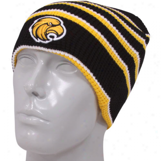 Southern Miss Goldne Eagles Black-gold Replay Thermal Beanie