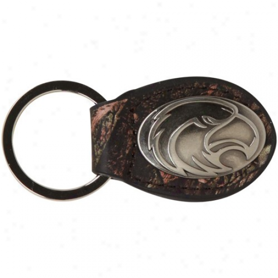 Southerly Miss Golden Eagles Camo Concho Leather Keychain