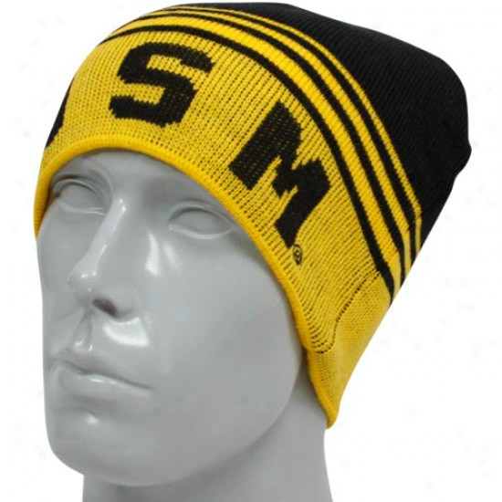 Southern Miss Golden Eagles Gold-black Rush Reversible Beanie