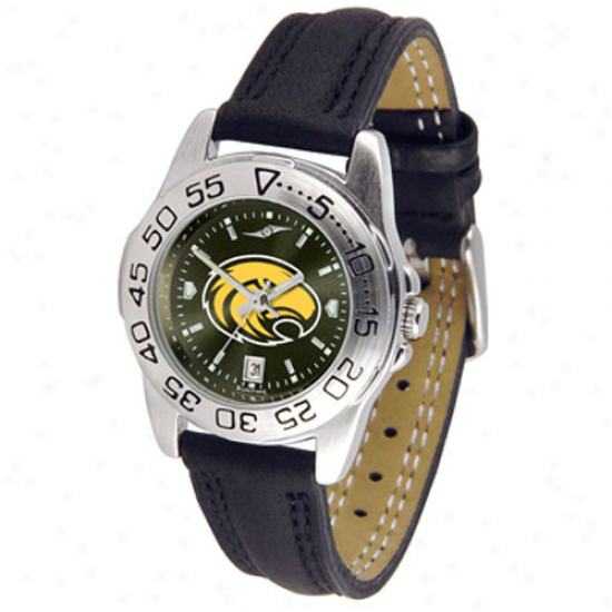 Southern Miss Golden Eagles Ladies Sport Leather Anochrome Watch