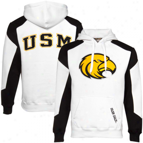 Southern Miss Golden Eagles White-black Cnallenger Hoody Sweatshirt
