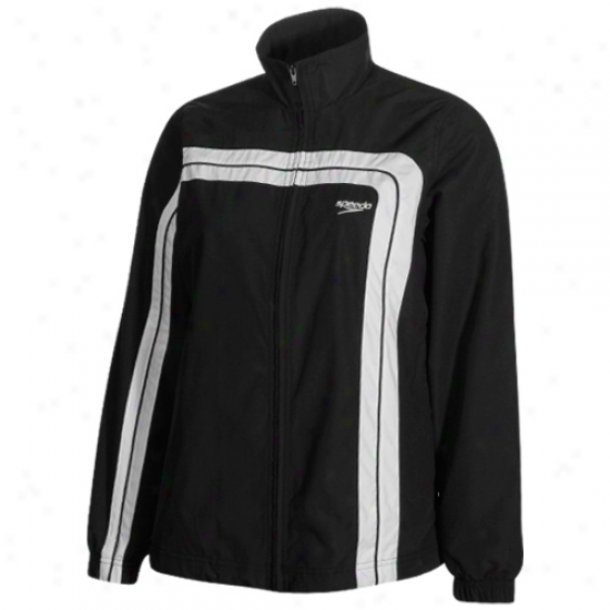 Speedo Ladies Black Hydro Velocity Warm-up Jacket