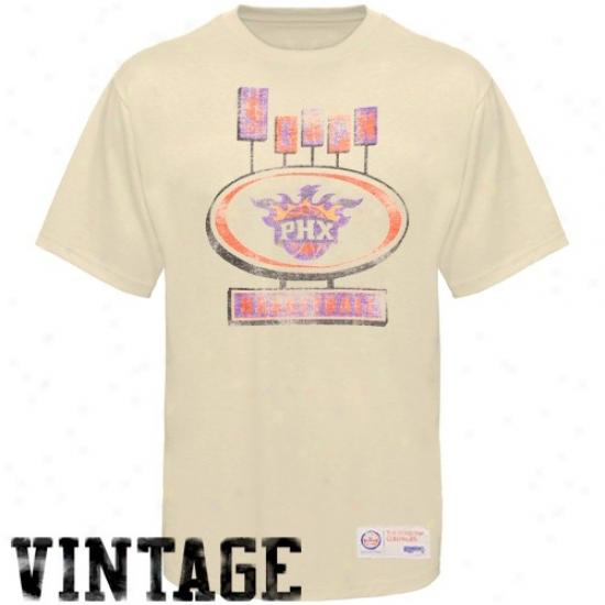 Sportiqe-espn Phoenix Suns Cream Pancakes Distressed Premium T-shirt