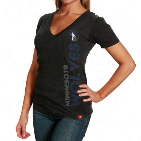 Sportiqe Minnesota Timberwolves Ladies Abyss Abba T-shirt - Black