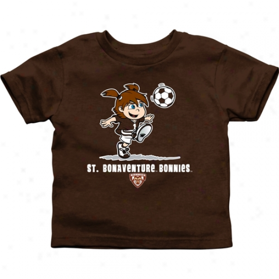 St. Bonaventure Bonnies Infant Girls Soccer T-shirt - Brown