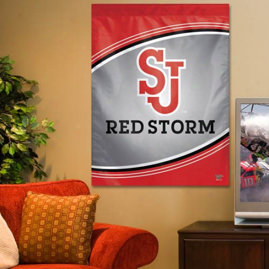 St. John's Red Storm 27'' X 37'' Vertical Banner Flag