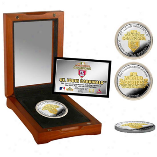 St. Louis Cardinals 2011 World Series Champions Two-tone Silver Coin