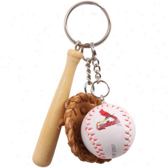 St. Louis Cardinals Baseball Gea Keychain