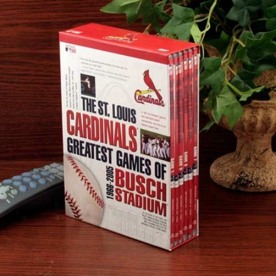 St. Louis Cardinals Greatest Games Of Busch Stadium 1966-2005 6-disc Dvd Set