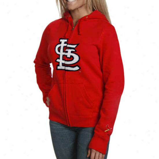 St. Louis Cardinals Ladies Red Team Spirit Full Zip Hoody Sweatshirt