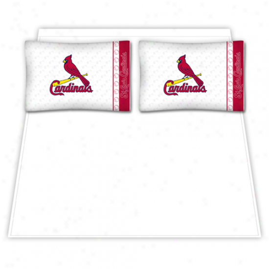 St. Lous Cardinals White Full Sheet Set