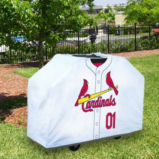 St Louis Cardinals White Jersey Bbq Grill Cover