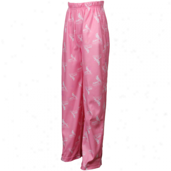 St. Louix Cardinals Youth Girls Printed Flannel Pajama Pants - Pink