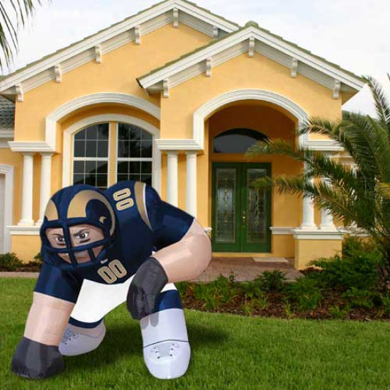 """st. Louis Rams 5' Inflatable """"bubbw"""" Player Mascot"""