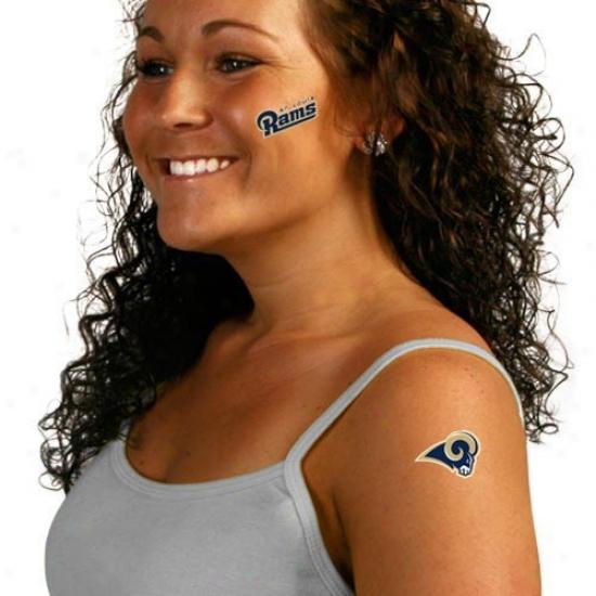 St. Louis Rams 8-pack Waterless Temporary Tattoos