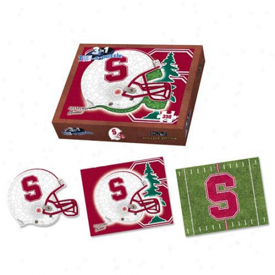 Stanford Cardinal 350-piece 3-in-1 Tri-a-puzzle